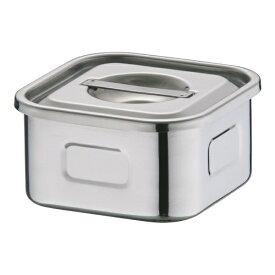 三宝産業 SAMPO SANGYO 18-8浅型角キッチンポット 8cm <AKT33008>[AKT33008]