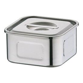 三宝産業 SAMPO SANGYO 18-8浅型角キッチンポット 12cm <AKT33012>[AKT33012]