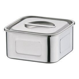 三宝産業 SAMPO SANGYO 18-8浅型角キッチンポット 15cm <AKT33015>[AKT33015]