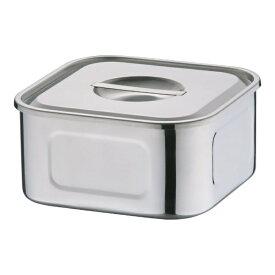 三宝産業 SAMPO SANGYO 18-8浅型角キッチンポット 19.5cm <AKT33019>[AKT33019]