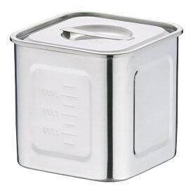 三宝産業 SAMPO SANGYO 18-8深型角キッチンポット 15cm <AKK06015>[AKK06015]