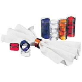 三宝産業 SAMPO SANGYO UK アクリル ナフキンリング オーロラ (4個入) ブルー <PNHF504>[PNHF504]