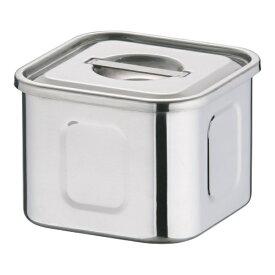 三宝産業 SAMPO SANGYO 18-8 深浅型 角キッチンポット 9cm <AKK9702>[AKK9702]