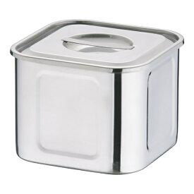 三宝産業 SAMPO SANGYO 18-8 深浅型 角キッチンポット 16.5cm <AKK9707>[AKK9707]