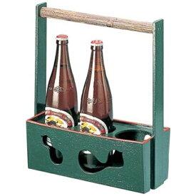 福井クラフト 木製ビール運び(3本入) グリーン 81291230 <RFI1801>[RFI1801]