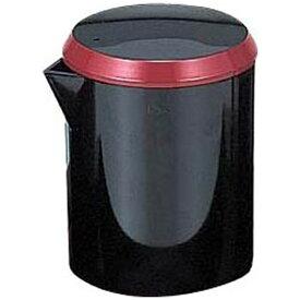 福井クラフト アクリル筒型醤油差し 黒朱帯 70010110 <RFKK601>[RFKK601]