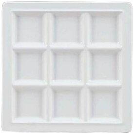 関東プラスチック工業 Kantoh Plastic Industry メラミン スクエアプレート 9仕切皿 M-2350 ホワイト <RSK5202>[RSK5202]