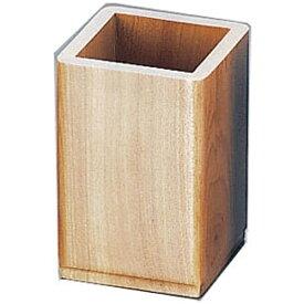 マイン MIN 木製 角型箸立(アルミ受皿付)ナチュラル M40-574 <PHS95>[PHS95]