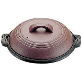 マイン MIN 《IH非対応》 アルミ陶板鍋素焼き茶 大関 30cm M10-542 <QTU18542>[QTU18542]