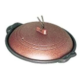 マイン MIN 《IH非対応》 アルミ庵陶板鍋素焼き茶 M10-463 16cm 浅型 <QTU16463>[QTU16463]