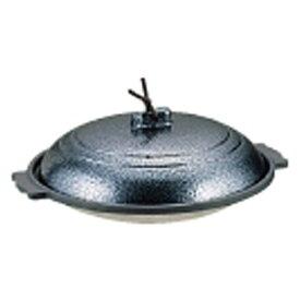 マイン MIN 《IH非対応》 アルミ丸陶板鍋 いぶし銀 浅型 18cm M10-390 <QTU11>[QTU11]