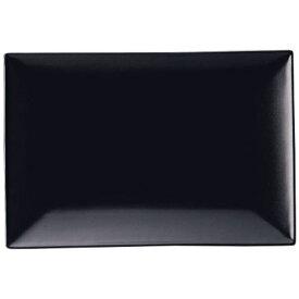 ミヤザキ食器 MIYAZAKI スパッツィオ レクタンギュラープレート黒 (M)9インチ <RSP5001>[RSP5001]