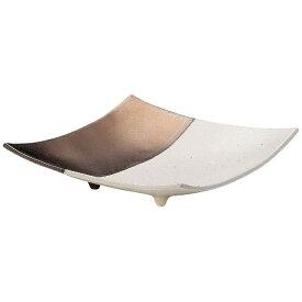 ミヤザキ食器 MIYAZAKI 奏 スクエアプレート ゴールドホワイト 26cm <RSU0602>[RSU0602]
