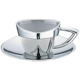 三宝産業 SAMPO SANGYO UK18-8トライアングルシリーズ コーヒーカップ&ソーサー <PTL8101>[PTL8101]