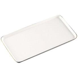 かんだ 陶磁器 ケーキプレート 角(金線入) 白 <WKCO801>[WKCO801]