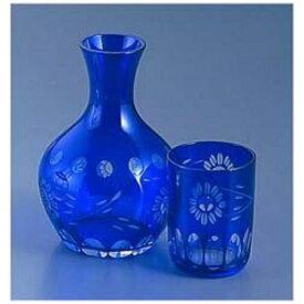 吉沼硝子 Yoshinuma Glass ガラス花切子水瓶 ルリ HN-40BL <PSI11>[PSI11]