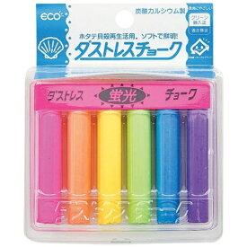 日本理化学工業 Nihon Rikagaku Industry ダストレス蛍光チョーク(6本入) 6色 DCK-6-6C <PTY4507>[PTY4507]