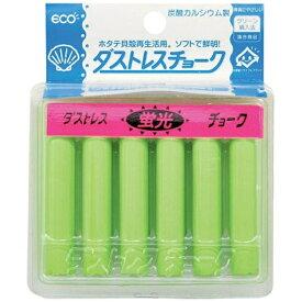 日本理化学工業 Nihon Rikagaku Industry ダストレス蛍光チョーク(6本入) 緑 DCK-6-G <PTY4504>[PTY4504]