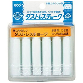日本理化学工業 Nihon Rikagaku Industry ダストレスチョーク(6本入) 白 DCC-6-W <PTY4401>[PTY4401]