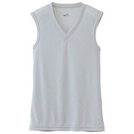 ミズノ mizuno メンズ アンダーウエア ドライベクターエブリ Vネックノースリーブシャツ(Lサイズ/ベイパーシルバー)C2JA610204