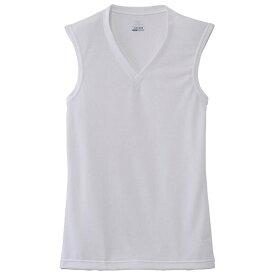 ミズノ mizuno メンズ アンダーウエア ドライベクターエブリ Vネックノースリーブシャツ(Lサイズ/オフホワイト)C2JA610202