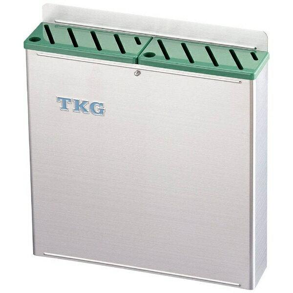 遠藤商事 TKG18-8プラ板付カラーナイフラック 大 Aタイプ 緑 <AHU694>[AHU694]