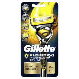 ジレット Gillette Gillette(ジレット) フュージョン 5+1 プロシールド ホルダー+替刃2個付 〔ひげそり〕