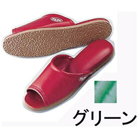 遠藤商事 Endo Shoji 抗菌前あきスリッパSSK-5222 M グリーン <VSL2310>[VSL2310]