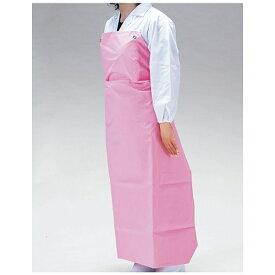 協和商事 KYOWA TRADING ワンタッチ胸付前掛 W-100 ピンク <SME8302>[SME8302]