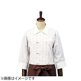 サカノ繊維 SAKANO SENI チェック コックシャツ・レギュラーカラー SBK4100 オレンジ M <SKT5808>[SKT5808]