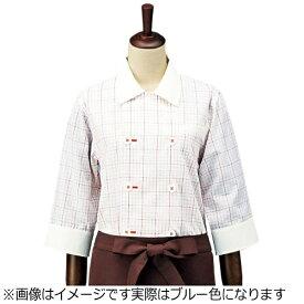 サカノ繊維 SAKANO SENI チェック コックシャツ・レギュラーカラー SBK4100 ブルー M <SKT5802>[SKT5802]