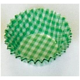 遠藤商事 Endo Shoji オーブンケース チェック柄(250枚入) 5号深口 緑 <XOC0212>[XOC0212]