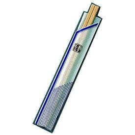 ツボイ 割箸袋入 ピース紺 白樺元禄 20.5cm (1ケース100膳×40入) <XHS99>[XHS99]