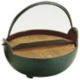 中部コーポレーション CHUBU CORPORATION 《IH非対応》 トキワ やまが鍋(内茶ホーロー仕上) 24cm(杓子付) <QYM02024>[QYM02024]