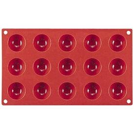 マルテラート Martellato フレキシブルノンスティックモルド 40 半丸型(15ヶ取) SF005 <WSL32>[WSL32]
