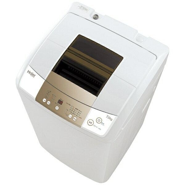 【標準設置費込み】 ハイアール 全自動洗濯機 (洗濯7.0kg)「Haier Live Series」 JW-K70M-W ホワイト[JWK70M]