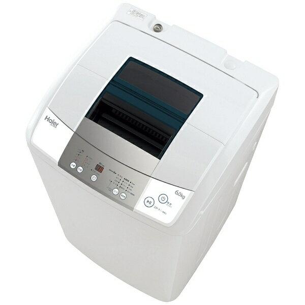 【標準設置費込み】 ハイアール 全自動洗濯機 (洗濯6.0kg)「Haier Live Series」 JW-K60M-W ホワイト[JWK60M]