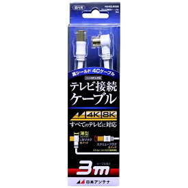 日本アンテナ NIPPON ANTENNA アンテナ用ケーブル ホワイト NA4GLRS3B