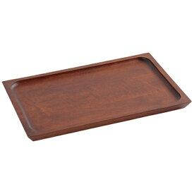 ヤマコー YAMACO 木製カフェトレイ ノーマル ブラウン <PKH0101>[PKH0101]