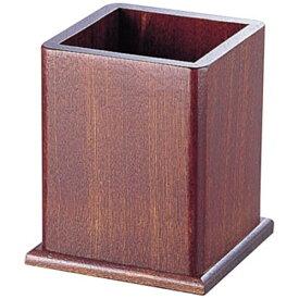 ヤマコー YAMACO 木製 角型ワイド箸立 16109 (ブラウン) <PHSA601>[PHSA601]