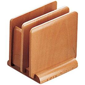 ヤマコー YAMACO 木製 ナフキン&メニュースタンド 15222(ナチュラル) <PNHA4>[PNHA4]