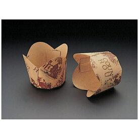 天満紙器 TEMMA SHIKI チューリップカップ茶 M-305(100枚入) <WTY65305>[WTY65305]
