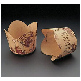 天満紙器 TEMMA SHIKI チューリップカップ茶 M-306(100枚入) <WTY65306>[WTY65306]