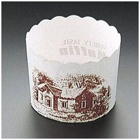 天満紙器 TEMMA SHIKI マフィンカップハウス柄白 M-405(100枚入) <WMH21>[WMH21]