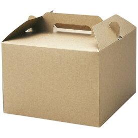 天満紙器 TEMMA SHIKI トールキャリーボックス(25枚入) 茶無地 KS4600 <WKY2402>[WKY2402]