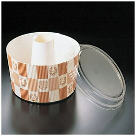 天満紙器 TEMMA SHIKI 蓋付シフォンカップ白・エンブレム格子柄 SC-841-A(50枚入) <WSH15>[WSH15]