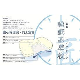 モリシタ 睡眠基準枕 匠 パイプタイプ 低め(33×53×8cm)