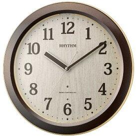 リズム時計 RHYTHM 掛け時計 【ピュアライトM33】 茶 4MYA33SR06 [電波自動受信機能有]