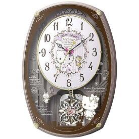 リズム時計 RHYTHM 掛け時計 【ハローキティM540】 ピンク 4MN540MB13 [電波自動受信機能有]