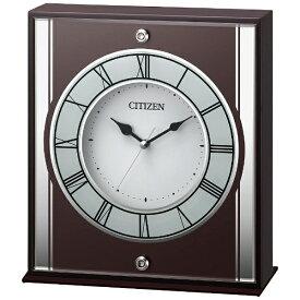 リズム時計 RHYTHM 置き時計 茶色半艶仕上 8RG622-006